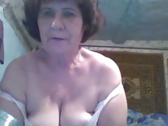Hot 54 yo Russian mature Vera play on skype