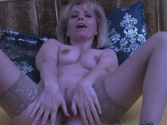 Mature platinum-blonde displays her  enjoy tunnel