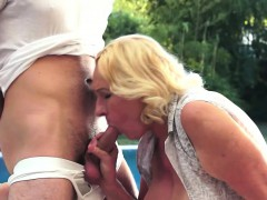 Granny loves the taste of young dicks