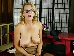 Mature nerd aunty with saggy cupcakes and  pussy