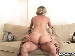 Hot mother in law  cock