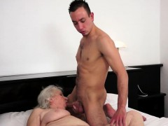 Titfucking old grannie