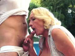 Granny with her paramour boy's cock