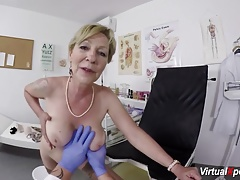 hairy granny  drilled by her doc