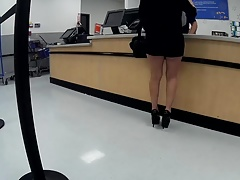 Latina grannie high heels short shorts(Playtime)