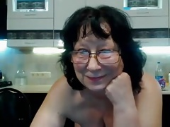 Granny masturbating glasses webcam
