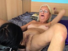 OldNannY Girly-girl Mature and Nubile Masturbation