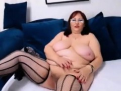 Hot huge-titted grannies  in front of webcam