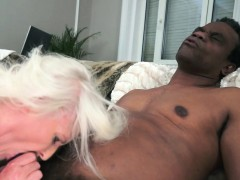 Busty european  fucked interracially