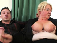 Boozed  granny getting double-fucked