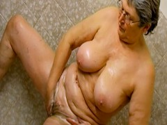 OmaHoteL Horny Grannie Lush Solo Play Footage