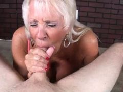 Mature Milf Likes His Thick  In Her Mouth