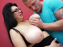 Meaty breasted  fucking and sucking son