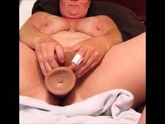 Busty grandmother Plumper Gita solo