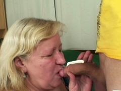 Big bra-stuffers mother-in-law pleases him