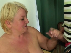 Nude mother-in-law is doggy-fucked