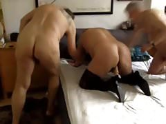bisex thresome with grandpa