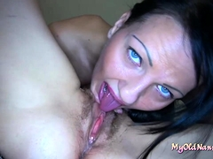 Jitka in lesbian scene with an old cockslut