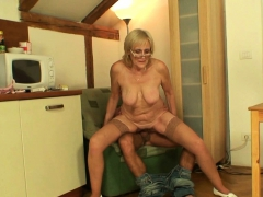 Very old  blonde mommy  son-in-law cock